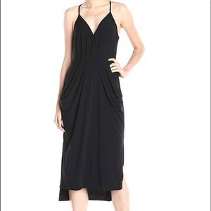 {BCBGeneration} Sleeveless Faux Wrap Midi Dress